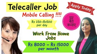 Telecaller Job | Best Work from Home Job | Work From Mobile I Call Center Job I Anyone One Can Apply screenshot 3