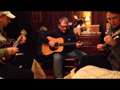 Twin mandolin with Lou and Lynn