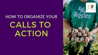 How to Organize Your Calls to Action