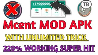 ● Mcent APP MOD APK WITH {UNLIMITED POINTS} {220% WORKING} BY TB!!