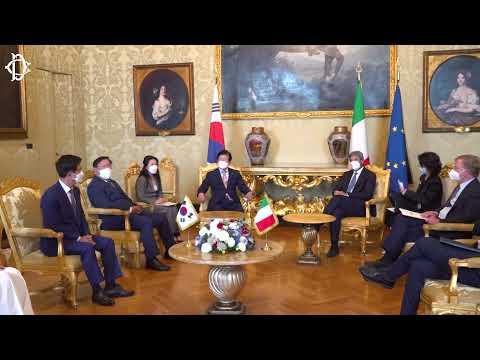 Il Presidente Fico incontra il Presidente dell'Assemblea Nazionale della Repubblica di Corea