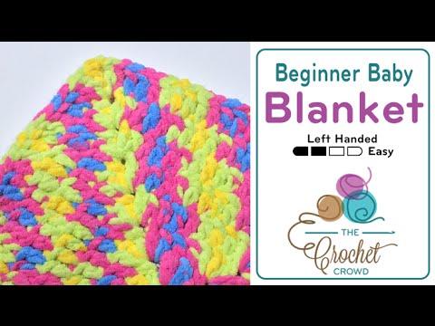 How To Crochet Beginner Baby Blanket Youtube