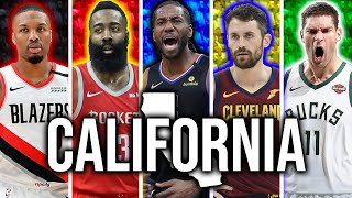 The Best NBA Starting 5 From EVERY State