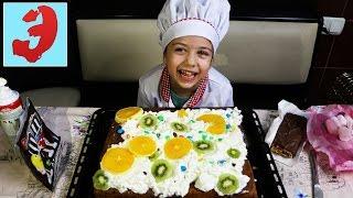 Детская Кухня повара Эмилюши Огромный торт для Мамы