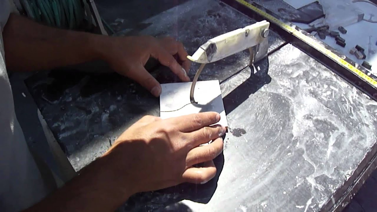Cutting Glass Tile With The Apollo Ring Saw Youtube