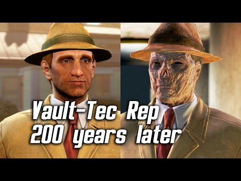 Fallout 4 Vault Tec Rep Guy Ghoul Easter Egg Secret