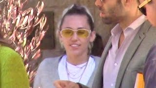 Miley Cyrus All Smiles After Dining With Tish And Noah Cyrus At Soho House In Malibu