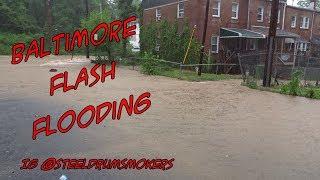 Baltimore City Frederick Ave Flash Flooding - 05 - 27 - 2018