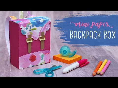 DIY Paper Backpack Gift Box Tutorial  🍎 Teacher Gifts | DIY Gift Box