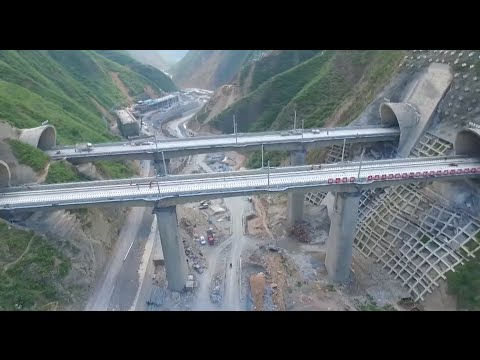 Railway Tunnel with China