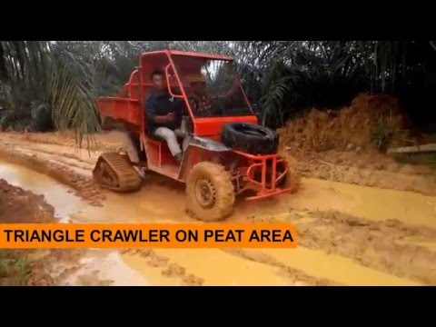 WINTOR X-PLORER Mini Tractor by ASTRA with Optional Attachment: TRIANGLE CRAWLER
