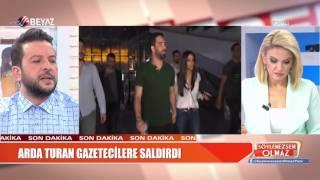 Arda Turan uçakta Gazeteci Bilal Meşe'ye saldırdı!