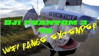Dji phantom 3 4k Wifi range extender review Drone booster