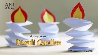 How to make DIY : Paper Candle (Diwali Diya)