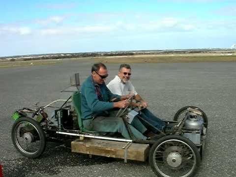 Rod Muller S Steam Car On Goolwa Airport Runway