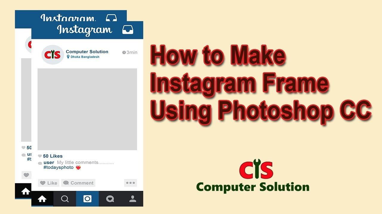 How to make Instagram Frame Using Photoshop CC - YouTube
