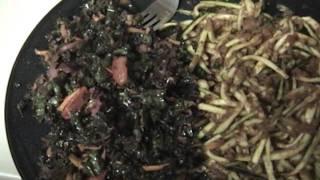 Live Ghetti & Kale/cabbage Salad
