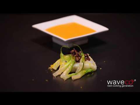 waveco®-ricette:-baccalà-con-gazpacho-di-pomodoro-e-olive-taggiasche-bio