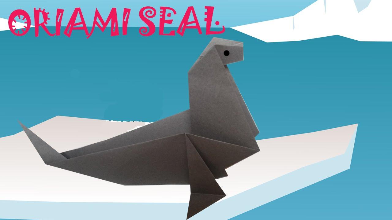 Origami seal origami easy youtube origami seal origami easy jeuxipadfo Gallery