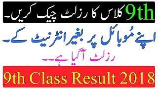 Matric Result Through SMS 2018 - Details of Punjab Board Codes