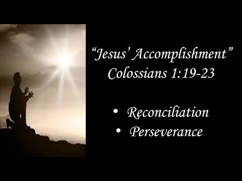"""""""Jesus' Accomplishment"""""""
