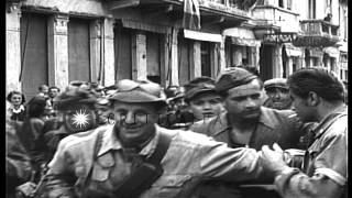 Several Italian Fascist officials and soldiers apprehended by Partisans in  Ivrea...HD Stock Footage