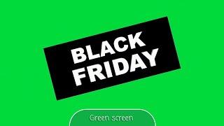 Black Friday Green Screen Animation