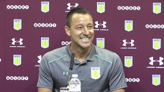 John terry unveiling as he signs for aston villa - full press conference