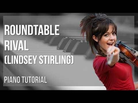 EASY Piano Tutorial: How to play Roundtable Rival by Lindsey Stirling