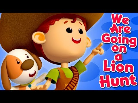 We're Going On A Lion Hunt | Nursery Rhymes For Babies | Little Eddie