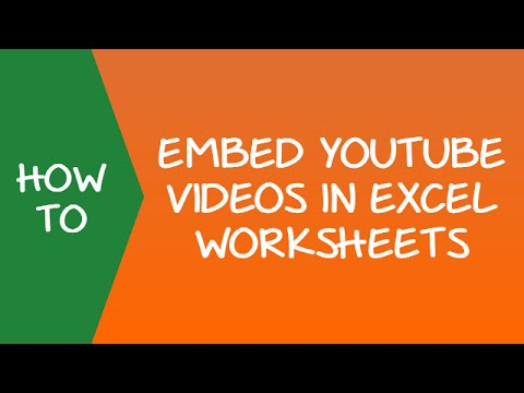 How to Embed Youtube Video in an Excel Worksheet
