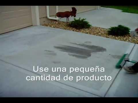 c mo limpiar manchas de aceite en el hormig n o concreto