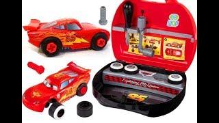 Мультики про Машинки Молния Маквин Игрушки для Детей Собираем Учим детали Машины