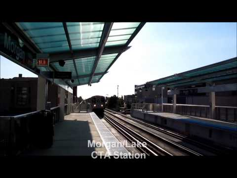 New 5000 Series CTA Railcars on the Pink Line.wmv