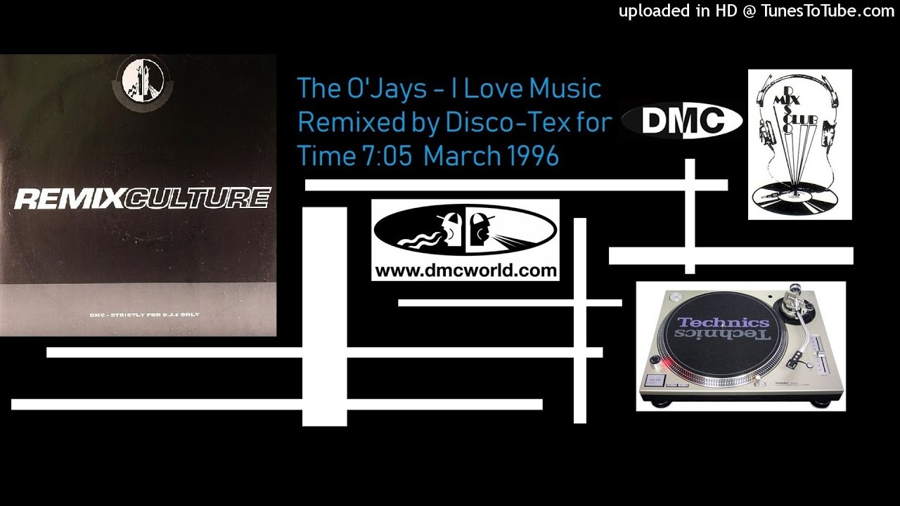The O'Jays - I Love Music (DMC remix by Disco-Tex March 1996)