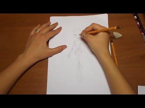 Как рисовать Монстер Хай(Monster High) с нуля