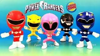 2018 BURGER KING POWER RANGERS KIDS MEAL TOYS FULL SET 5 JR HASBRO MIGHTY MORPHIN UNBOXING 25 YEARS