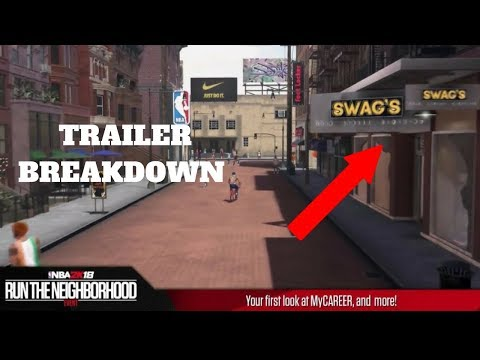 NBA 2k18 OPEN WORLD THE NEIGHBORHOOD TRAILER BREAKDOWN LIT NEW CLOTHING STORE FOOTLOCKER  AND MORE