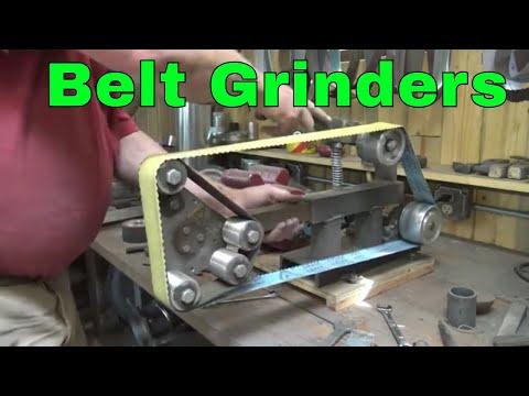 A look at my belt grinders - blacksmith shop tools