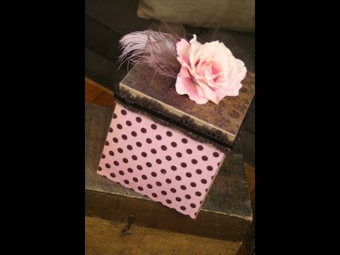 DIYMod Podge Decorative Box ShowMeCuteYouTube