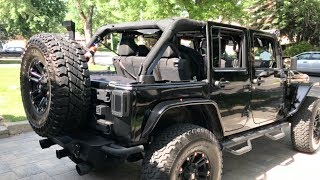 Removing my Jeep Hardtop for the First Time!  Must See!