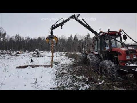 Meža darbi purvā ar Belarus 952.3..(HD)