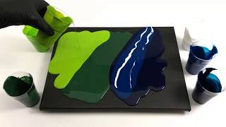 Acrylic puddle pour - easy acryl painting technique - back to the origin!