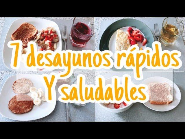 Menu De Desayunos Rápidos Y Saludables Para Niños Y Adultos Inspírate Conmigo Youtube