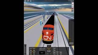 Fahreransicht einer CN Bulldog Lok auf Roblox