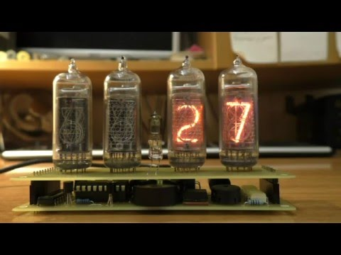 Часы для начинающих с лампами ИН-14 (Элиза)
