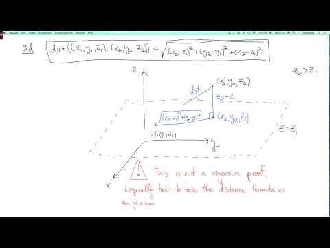 Multivariable calculus 1.3.1: Distance in Euclidean space