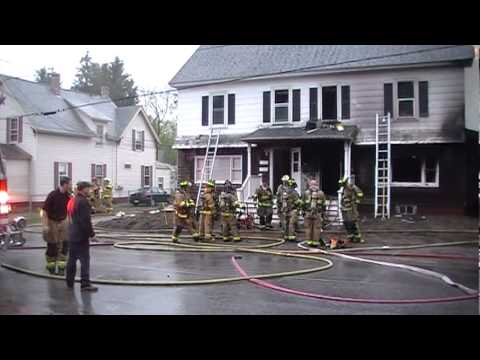 """Goffstown Fire at 53 Church St., Goffstown, NH """"exclusive"""" 1st on the scene video"""