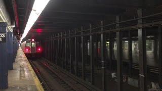 【アメリカ】 ニューヨーク地下鉄 C系統 103丁目駅 New York City Subway C train 103th Street Station (2016.4)