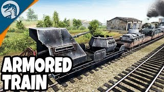 HEAVY ARMORED TRAIN DESTROYED | Men of War: Assault Squad 2 Red Tide Gameplay